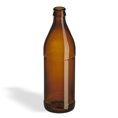 Glass Euro Bottle Amber Glass 500ml (case of 12)