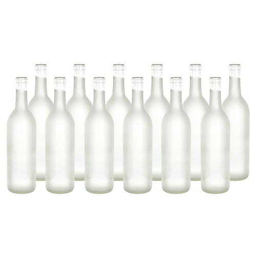 Home Brew Ohio Frosted 750ml Bordeaux Bottles Case of 12