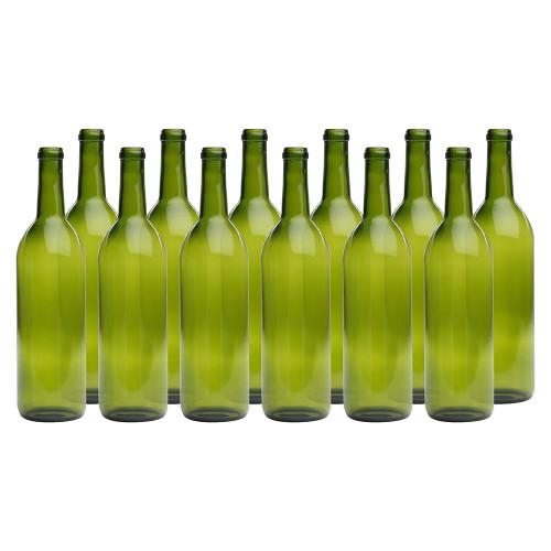 Home Brew Ohio Green 750ml Bordeaux Bottles Case of 12