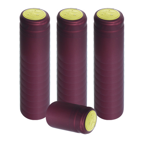 Home Brew Ohio Burgundy PVC Shrink Capsules 30 count