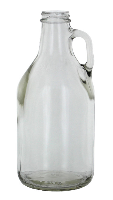 1/4 gallon clear jug-single count (32oz Clear Glass Jug)