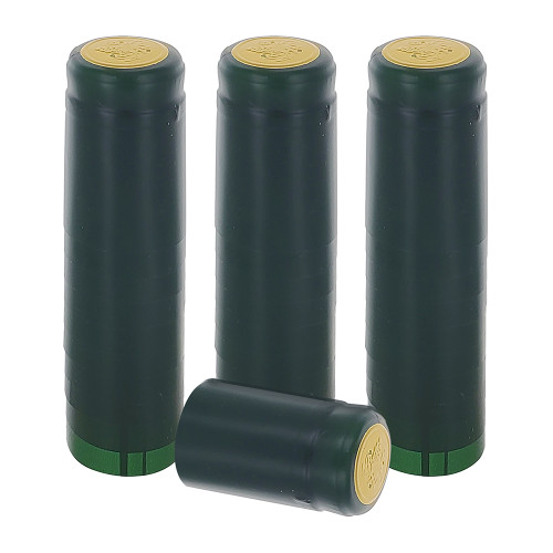 Home Brew Ohio Matte Green PVC Shrink Capsules 30 count