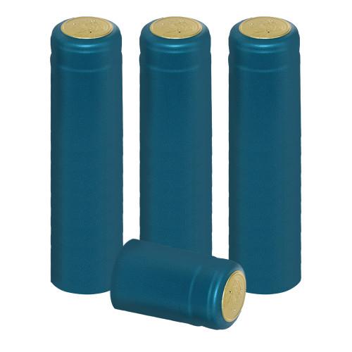 Home Brew Ohio Metallic Light Blue PVC Shrink Capsules 30 count