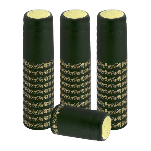 Home Brew Ohio Green With Gold Grapes PVC Shrink Capsules 30 count