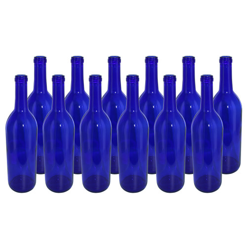 Home Brew Ohio Cobalt 750ml Bordeaux Bottles Case of 12