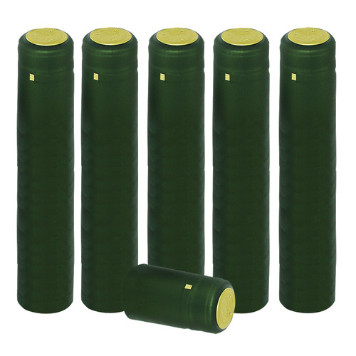 Home Brew Ohio Matte Green PVC Shrink Capsules 100 count