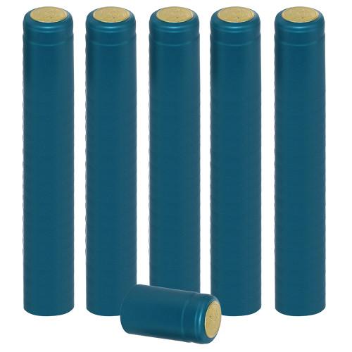 Home Brew Ohio Metallic Light Blue PVC Shrink Capsules 100 count