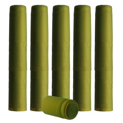 Home Brew Ohio Metallic Lime Green PVC Shrink Capsules 100 count