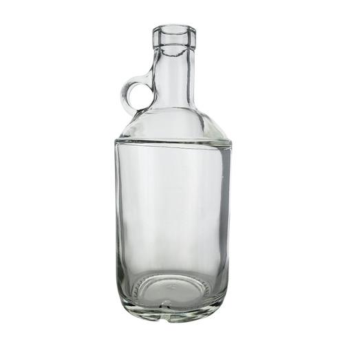 Clear 750ml Moonshine Bottle Single (21.5mm Cork Finish) w Cork, Single Bottle