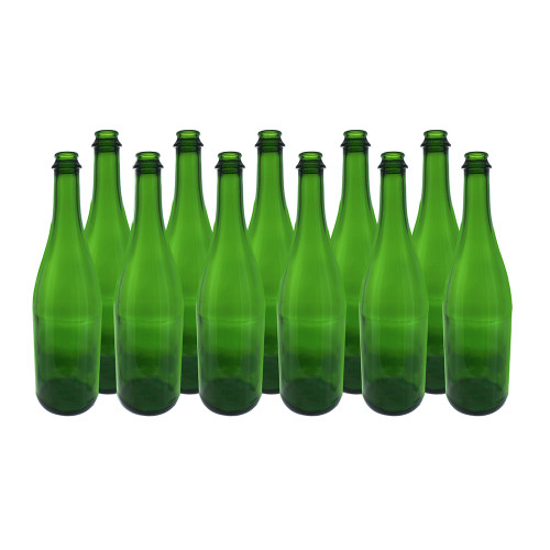 Home Brew Ohio 750ml Green Champagne Bottle Case of 12