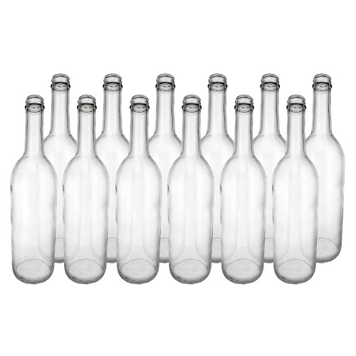 Home Brew Ohio Clear 750ml Bordeaux Screw Top Bottles Case of 12