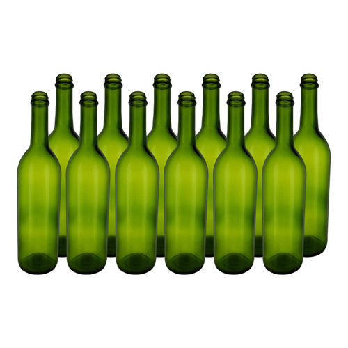 Home Brew Ohio Green 750ml Bordeaux Screw Top Bottles Case of 12