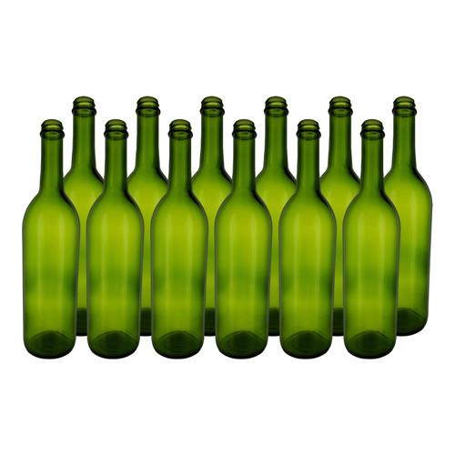 Home Brew Ohio Green 750ml Bordeaux Screw Top Bottles Case of 12