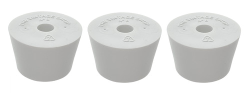 Home Brew Ohio #8 Drilled Rubber Stopper Set of 3
