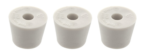 Home Brew Ohio #6.5 Drilled Rubber Stopper Set of 3