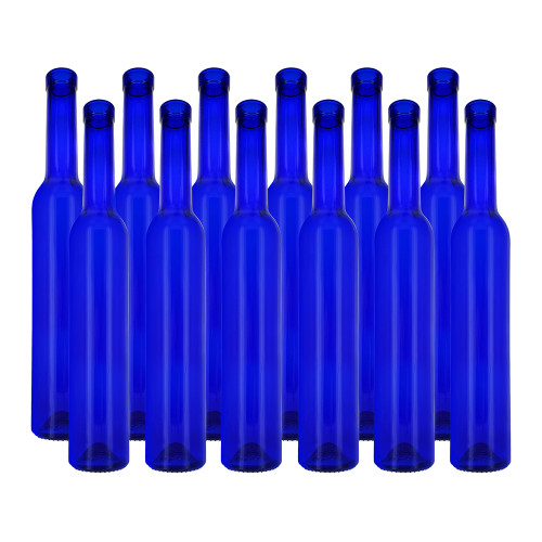 Delgada Blue Bar Top Spirit Bottles - Pack of Twelve Bottles