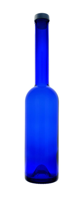 Opera Blue Bar Top Spirit Bottles - Single Bottle with Cork