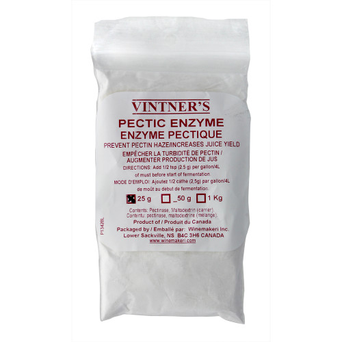 Home Brew Wine Making WMI Pectic Enzyme, 25g