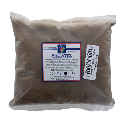 Wine Tannin 1kg (2.2Lbs) For Home Brewing