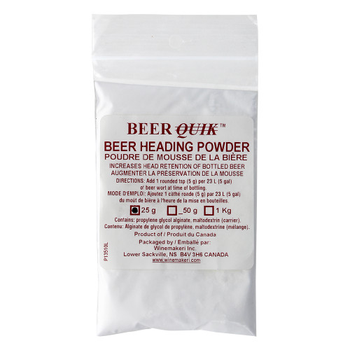WMI Beer Quik Beer Heading Powder 25g For Home Brewing