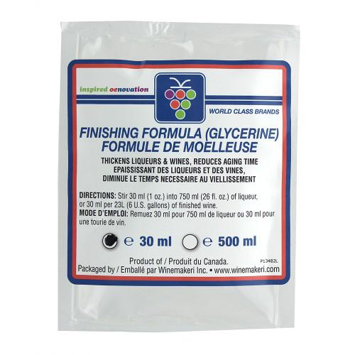 Finishing Formula (Glycerine) 30ml - For Home Made Wine And Liqueurs