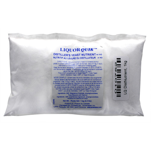 LQ Distiller's Yeast Nutrient, 1kg (2.2lbs) For Home Brewing