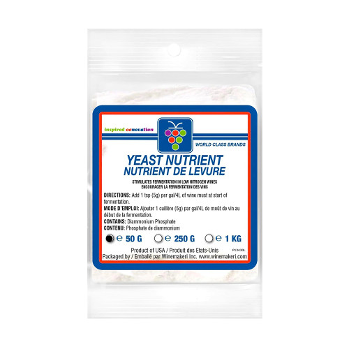 WMI Yeast Nutrient (DAP), 50g For Home Brewing