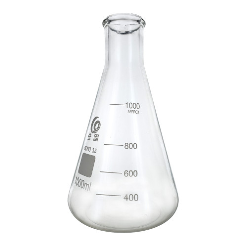 Home Brew Ohio 1000ml Erlenmeyer-Borosilicate 3.3 Glass Fermenter Flask