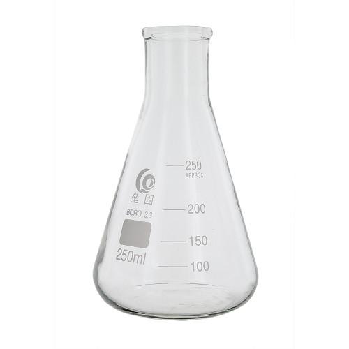 Home Brew Ohio 250ml Erlenmeyer-Borosilicate 3.3 Glass Fermenter Flask