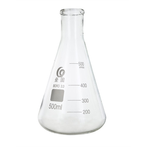 Home Brew Ohio 500ml Erlenmeyer-Borosilicate 3.3 Glass Fermenter Flask