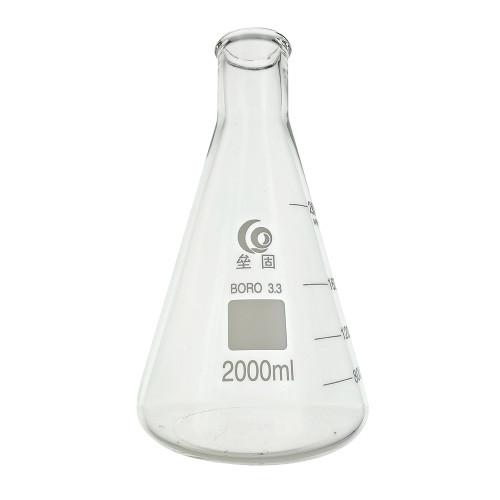 Home Brew Ohio 2000ml Erlenmeyer-Borosilicate 3.3 Glass Fermenter Flask
