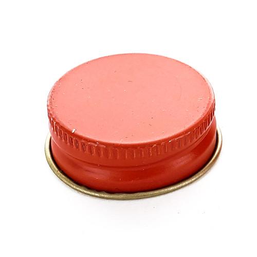 Red 28mm Metal Screw Cap, (1) Single