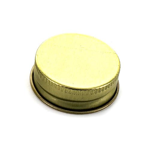 Gold 28mm Metal Screw Cap, (1) Single