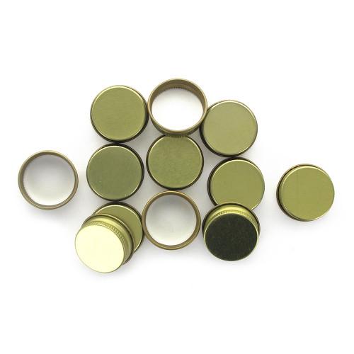 Gold 28mm Metal Screw Caps, 12ct