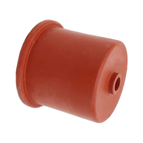 Red Rubber 50 mm Single Hole Carboy Cap