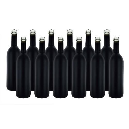 Home Brew Ohio Black Matte 750ml Bordeaux Bottles Case of 12