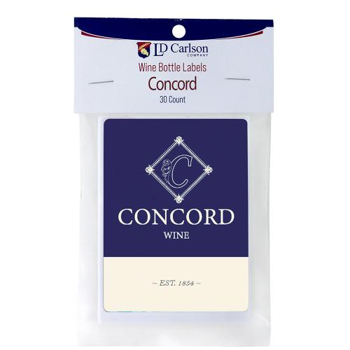 Wine Labels - Concord Fruit