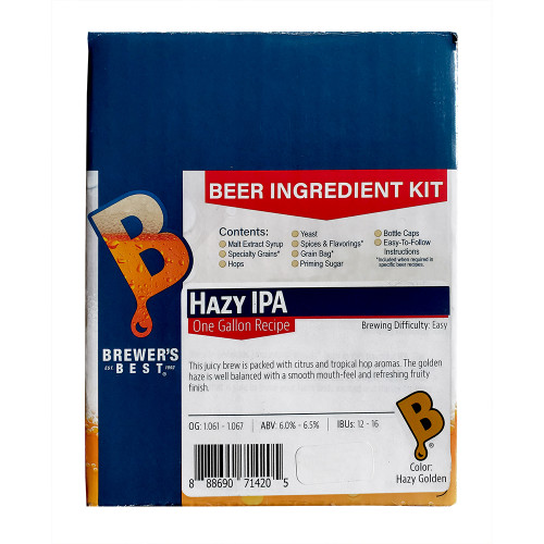 Brewer's Best Hazy IPA One Gallon Ingredient Kit