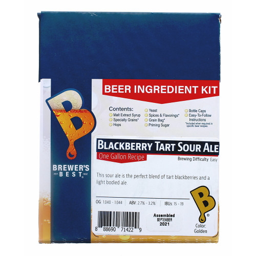 Brewer's Best Blackberry Tart Sour Ale One Gallon Ingredient Kit
