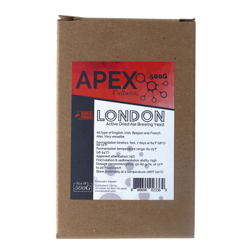 Apex Cultures Dry Brewing Yeast 500G London (English Ale)