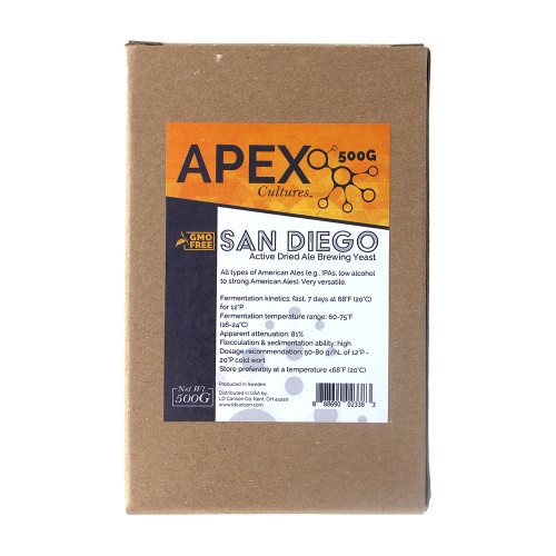 Apex Cultures Dry Brewing Yeast 500g San Diego (Pacific Ale)