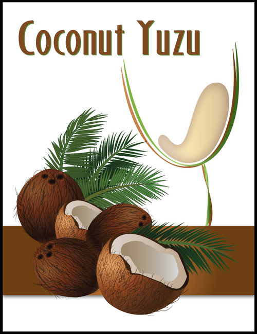 Island Mist Wine Labels - Coconut Yuzu Mist
