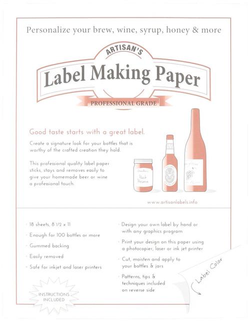Label Making Paper - White