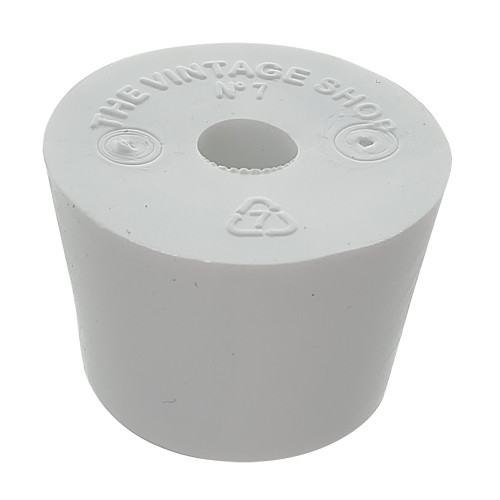 Rubber Stopper - Size 7 - Drilled