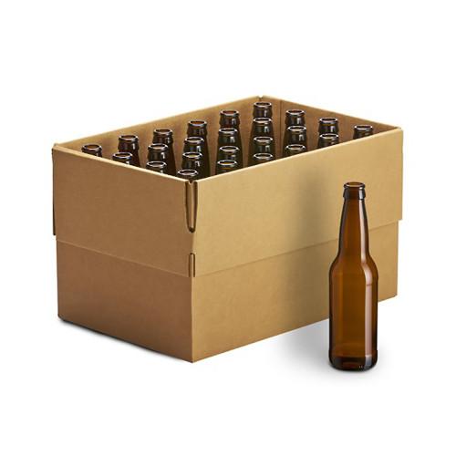 Beer Bottles - 12oz Crown Cap Amber Longneckcase of 24