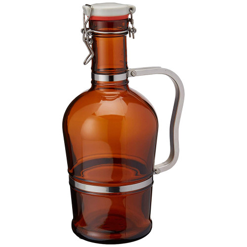 Growler with Metal Handle - Amber - 2 L