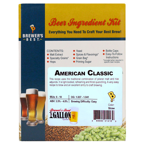 American Classic Beer Kit - 1 Gallon