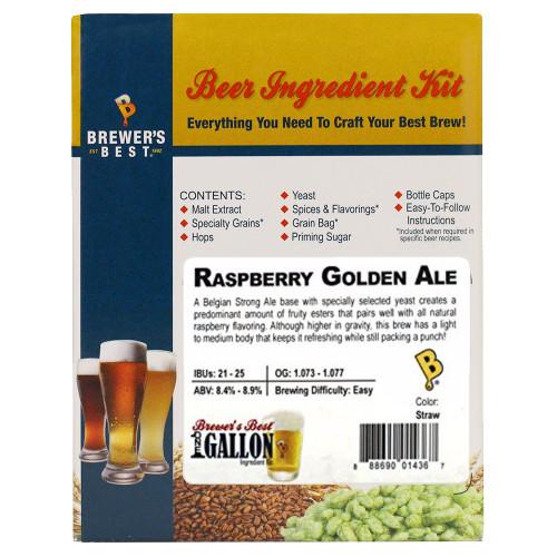 Raspberry Golden Ale Beer Kit - 1 Gallon