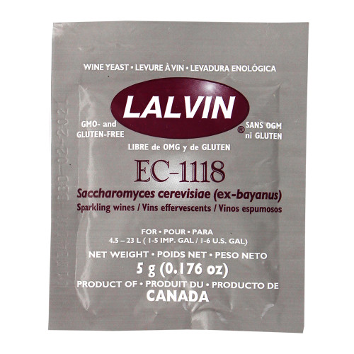 Lalvin EC-1118 Wine Yeast - 1 Pack