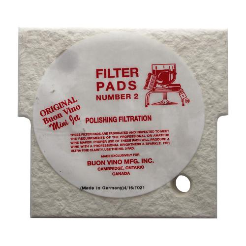 Buon Vino Mini-Jet Filter Pads - #2